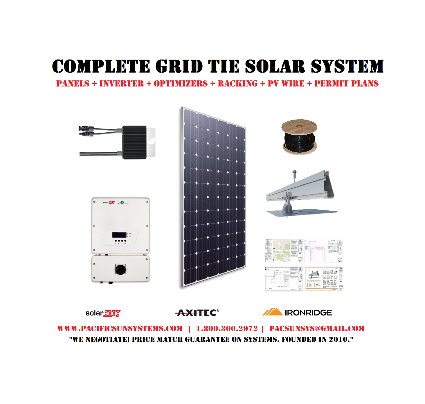 10kw Grid Tie Solar Kit Pacific Sun Systems