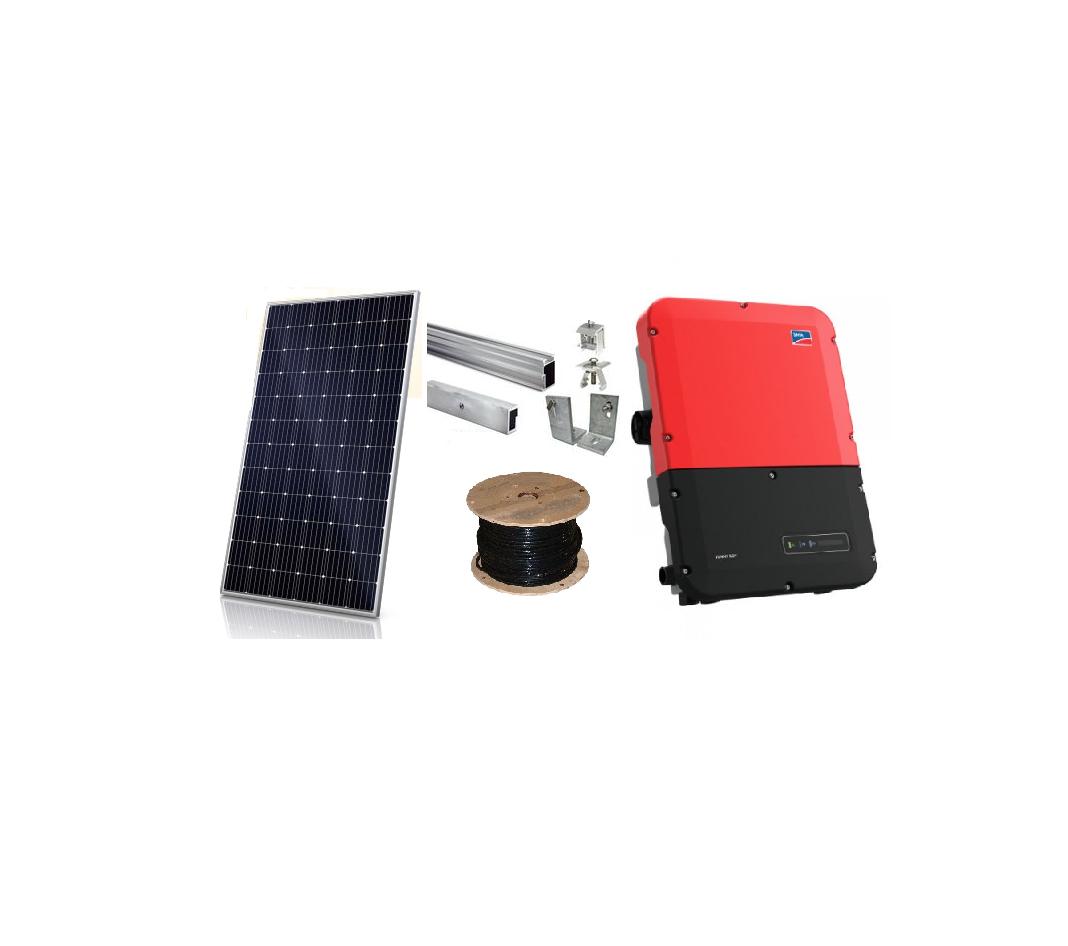 13kW Grid Tie Solar Kit Canadian Solar + SMA with Ground Mount Racking